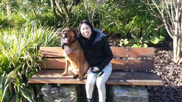 Lisa in Christchurch back image