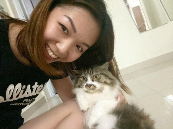 Ashley in Singapore back image