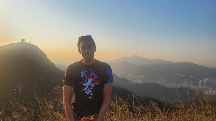Edwin in Hong kong back image